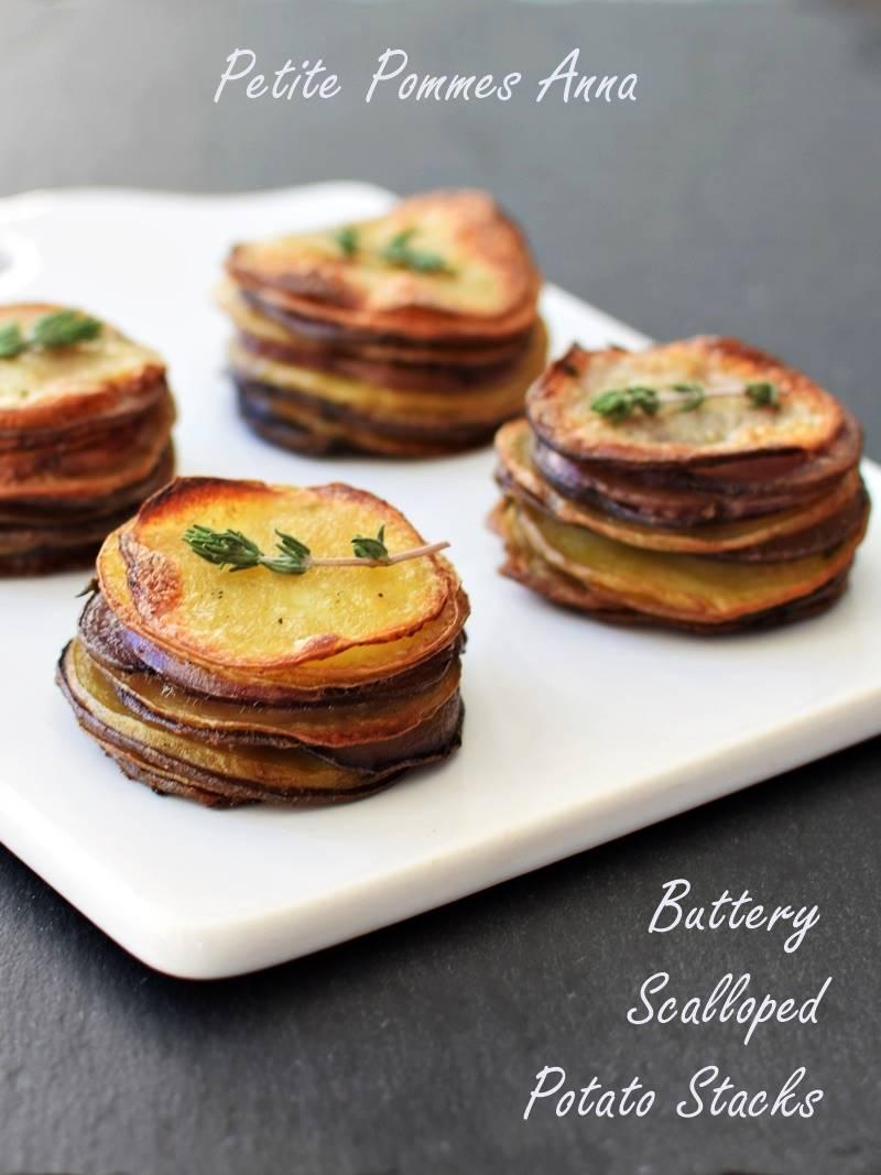 Petite Pommes Anna - Buttery Scalloped Potato Stacks (dairy-free, gluten-free, vegan)