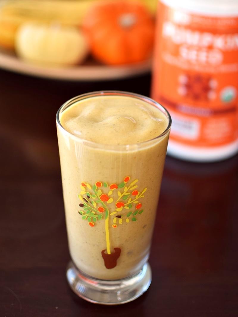 Super Pumpkin Spice Protein Smoothie (dairy-free, vegan, paleo)