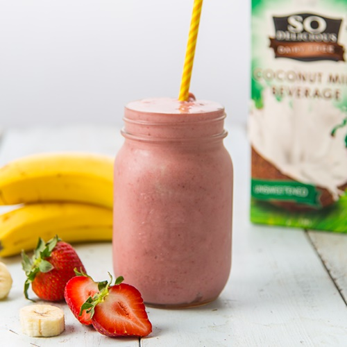 100+ Creamy Dairy-Free Recipes and Foods (pictured - Breakfast Power Smoothie)