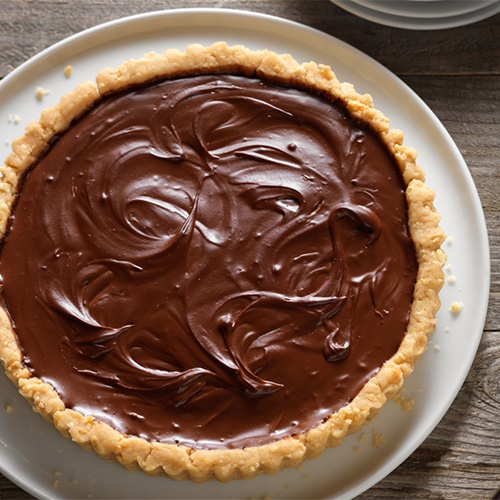 100+ Rich and Creamy Dairy-Free Recipes and Foods (pictured - Chocolate Pumpkin Pie)