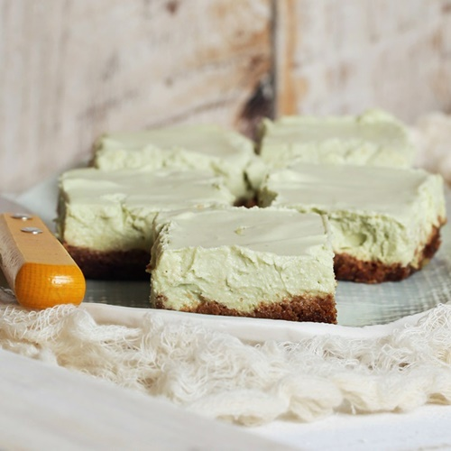 100+ Rich and Creamy Dairy-Free Recipes and Foods (pictured - Key Lime Cheesecake Bars)