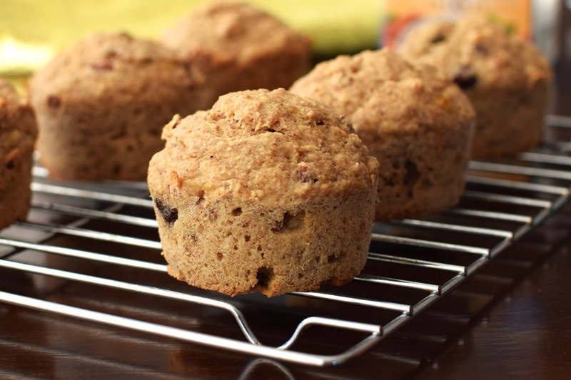 Banana-Oat Trail Mix Muffins - Easy, Wholesome Recipe (Naturally Gluten-free, Dairy-Free, and Vegan)