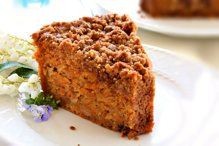 Carrot Crumb Cake Recipe (naturally Dairy-Free + Vegan)