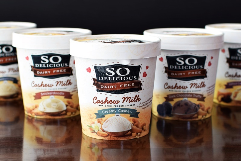 So Delicious Dairy Free Cashew Milk Ice Cream - so creamy, sweet and decadent, you won't believe it's vegan and soy-free!