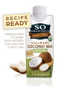 So Delicious Culinary Coconut Milk - a better, creamy option for dairy-free and to canned coconut milk