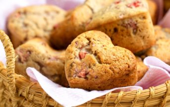 Strawberry Love Muffins - Vegan Strawberry Muffins Recipe that's sweet, simple, and naturally dairy-free, egg-free, nut-free, and soy-free.