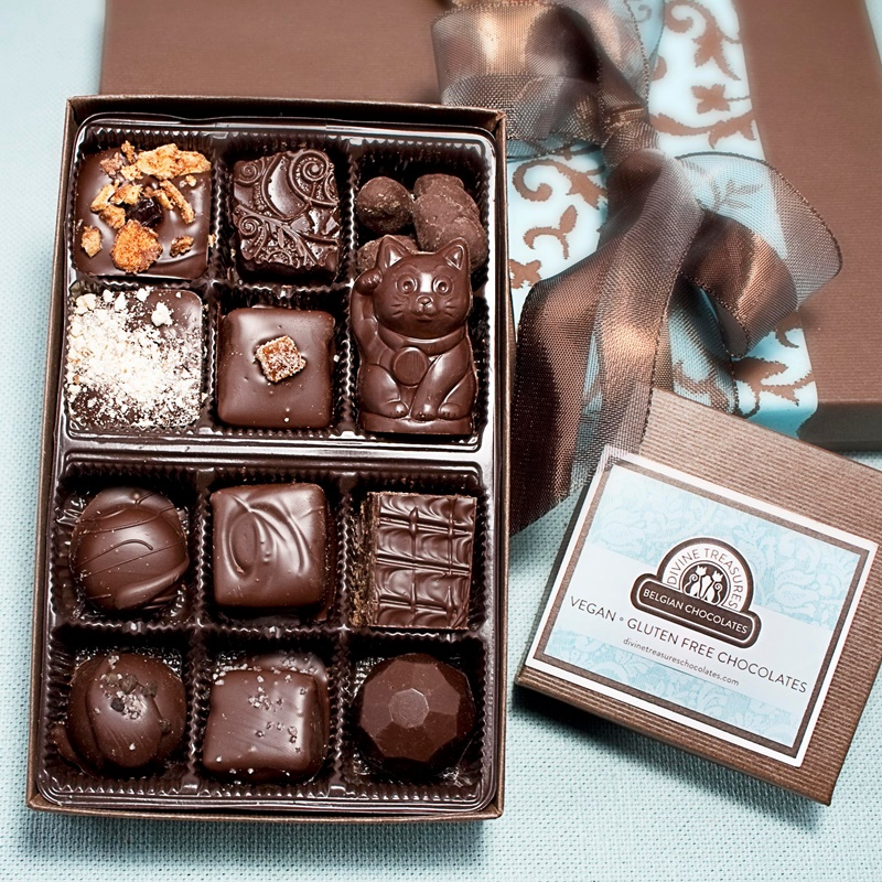 Guide to the Best Dairy-Free Valentine Chocolate: Over 20 Chocolatiers with Vegan, Gluten-Free, Food Allergy-Friendly, Organic, Fair Trade and more! Pictured: Divine Treasures