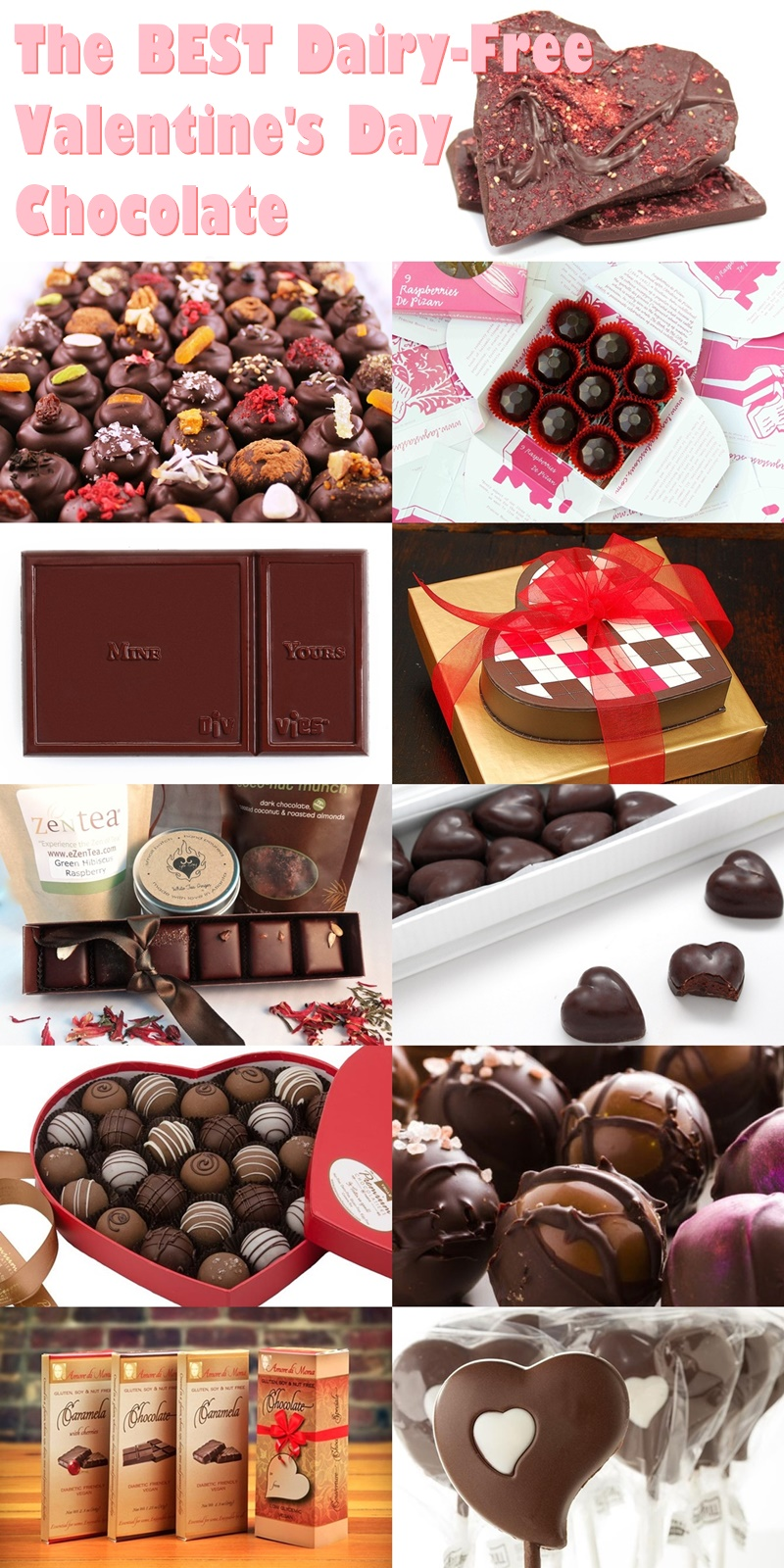 The Guide to the Best Dairy-Free Valentine Chocolate: Over 20 Chocolatiers with Vegan, Gluten-Free, Food Allergy-Friendly, Organic, Fair Trade and more!