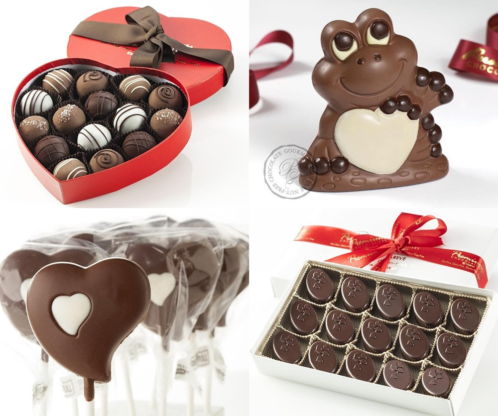 Guide to the Best Dairy-Free Valentine Chocolate: Over 20 Chocolatiers with Vegan, Gluten-Free, Food Allergy-Friendly, Organic, Fair Trade and more! (Pictured: Premium Chocolatiers)
