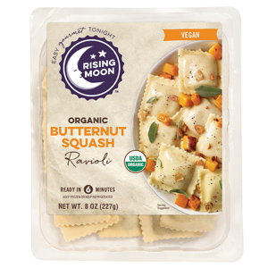 Rising Moon Organics Vegan Ravioli Reviews and Info. Pictured: Butternut Squash