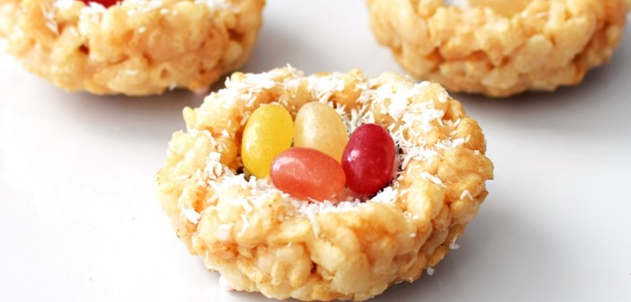 Coconut Crispy Treat Nests (5-Minute, No Cook, Marshmallow-Free!)