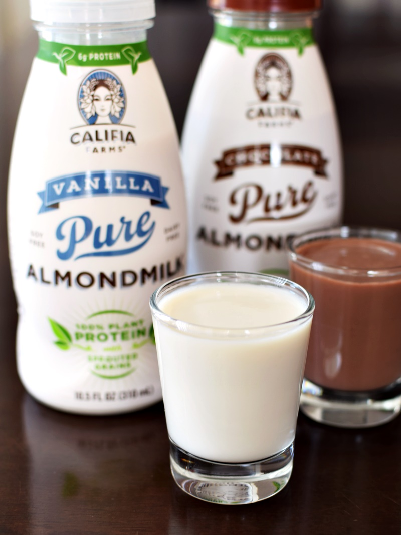 Califia Farms Pure Almondmilk with Protein - Chocolate and Vanilla (Now plant-based, dairy-free, soy-free, vegan)