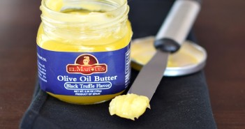 El Marques Olive Oil Butter (5 varieties - Black Truffle Flavor pictured) - Pure olive oil, whipped for stability at room temperature - dairy-free, vegan, paleo, awesome!