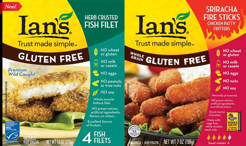 Top Dairy-Free Expo West 2015 Food Finds - Ian's Gluten-Free Herb Crusted Fish Filets (and Sriracha Chicken)