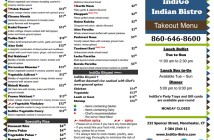 Indigo Indian Bistro in Manchester, CT labels dairy-free and gluten-free options right on their menu!