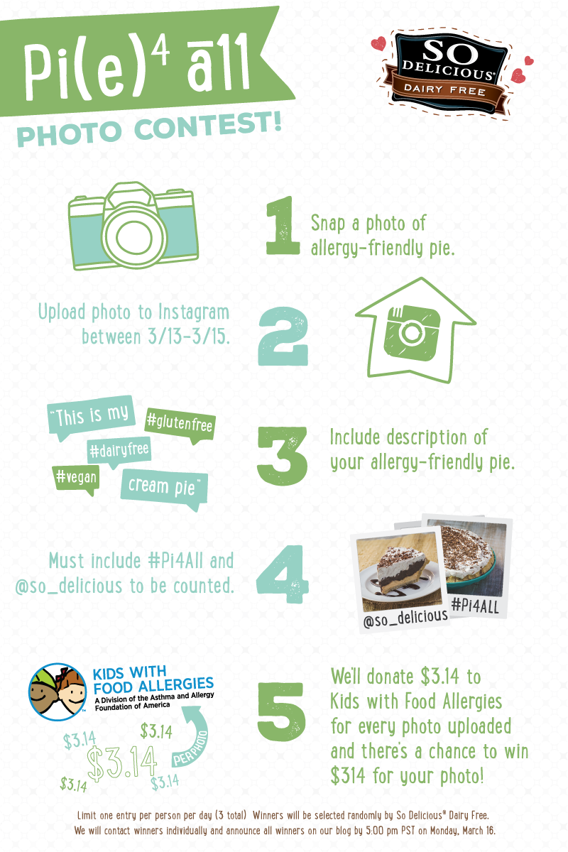 Pie4All Instagram Photo Contest - Take a Pic of your favorite allergy-friendly pie for Pi Day