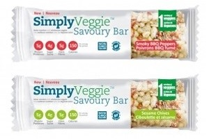 SimplyVeggie Savory Bars - Smoky BBQ Peppers + Sesame Chives (vegan, gluten-free, dairy-free, soy-free and flavor-filled!)