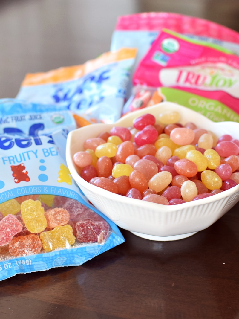 Surf Sweets Candy - Organic, Colored with Fruit Juice, Allergy-Friendly and Vegan Options