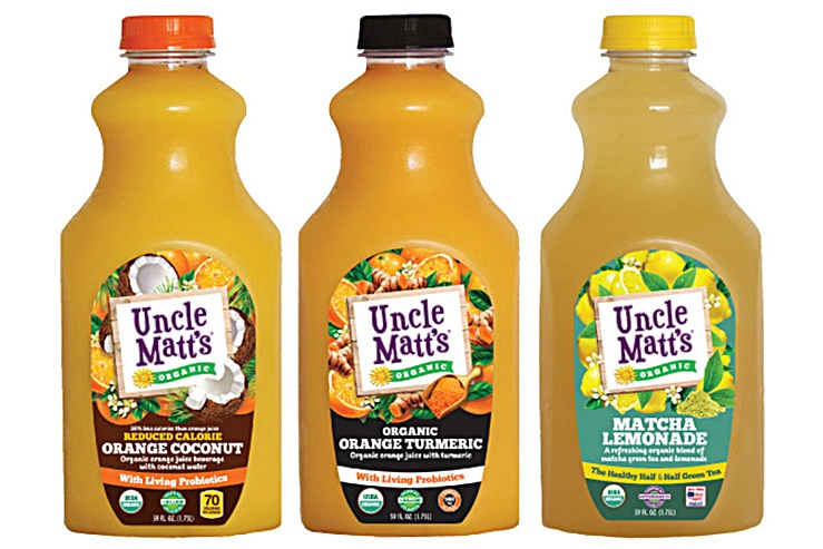 Top Dairy-Free Expo West 2015 Food Finds -  Uncle Matts Blends With Benefits Juices