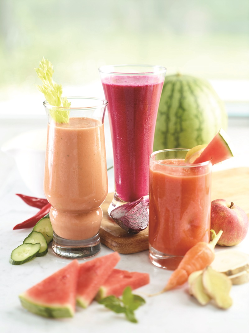 Enjoy this Trio of Healthy, Sweet, Refreshing and Detoxifying Watermelon Smoothie and Juice Recipes. All are naturally vegan, paleo, top allergen-free, and just generally good for you!