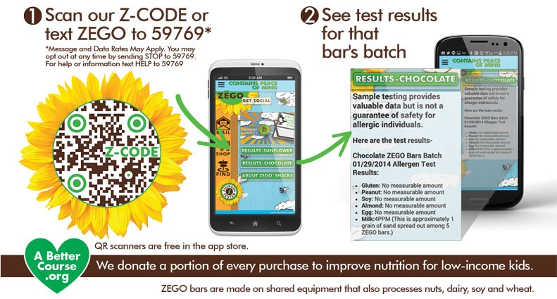 Zego Bars - Energy, Snack, Gluten-Free and Allergy-Friendly (Scannable Z-Code on each Bar for Gluten + Allergen Test Results)