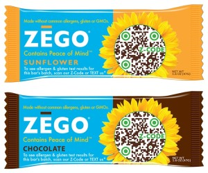 Zego Bars - Energy, Snack, Gluten-Free and Allergy-Friendly (Sunflower and Chocolate Flavors)