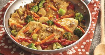 Light Orange Chicken with Broccoli Stir-Fry Recipe