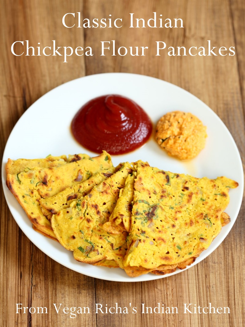 Classic savory indian chickpea flour pancakes recipe classic savory indian chickpea flour pancakes a naturally vegan dairy free gluten forumfinder Gallery