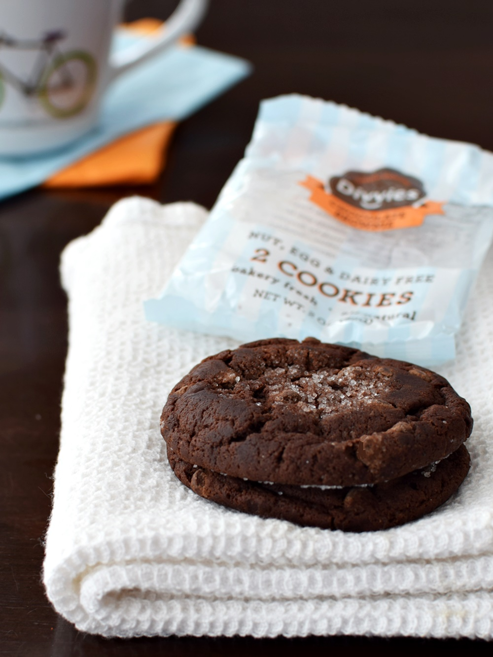 Divvies Bakery Cookies: 2 Amazingly Soft, Chewy Cookies per package - Nut, Egg and Dairy Free + Vegan