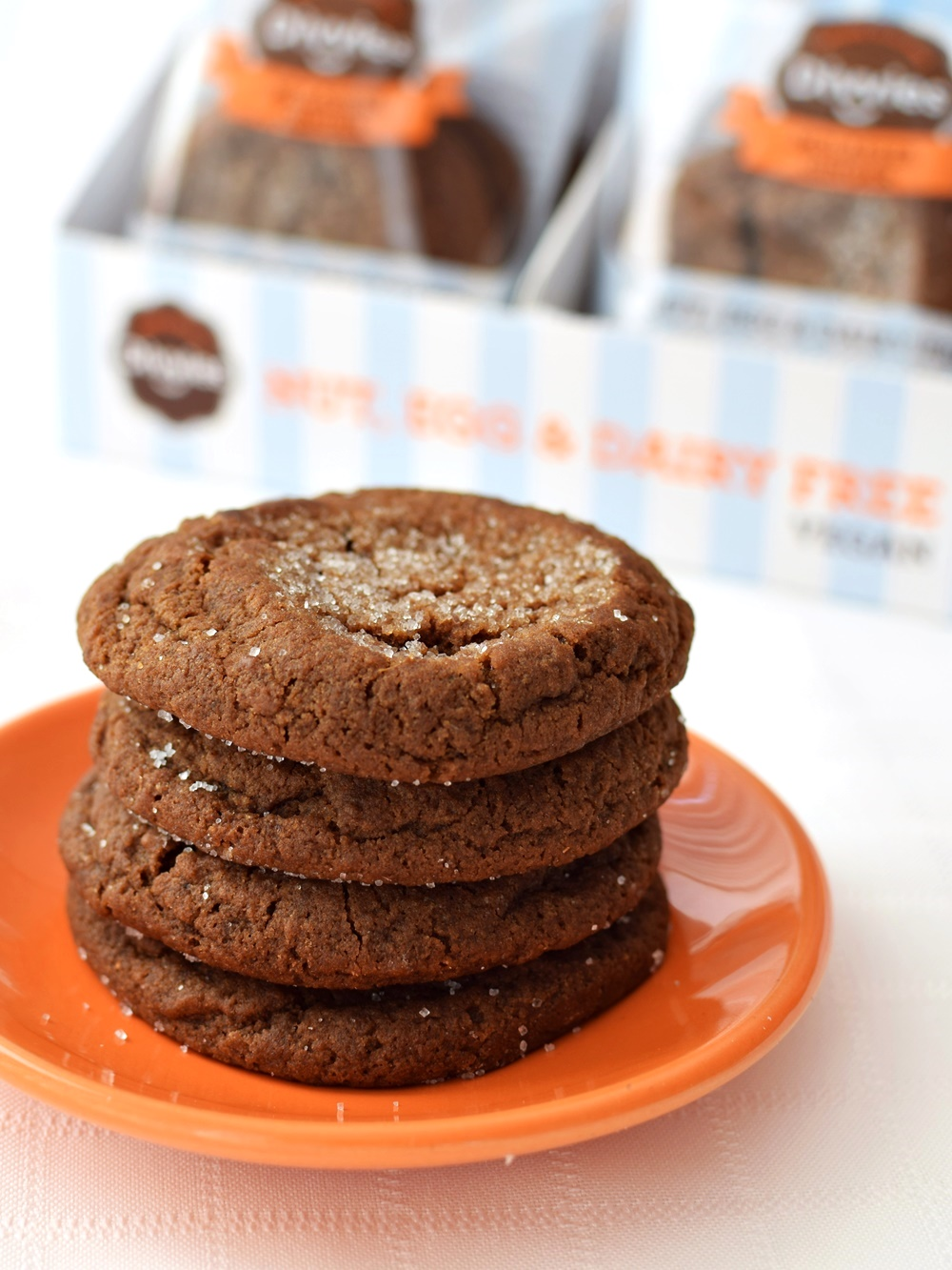 Divvies Bakery Cookies: 2 Amazingly Soft, Chewy Cookies per package (Molasses Ginger pictured) - Nut, Egg and Dairy Free + Vegan
