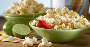 Easy Chili Lime Popcorn - Spice up movie night with these 5 simple ingredients! (naturally dairy-free, gluten-free, top allergen-free recipe)