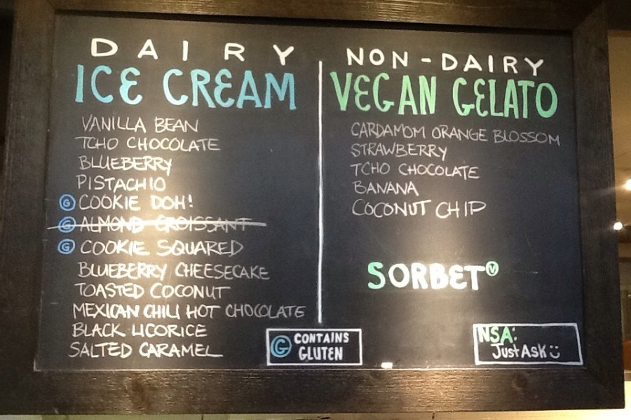 Love's Ice Cream in Grand Rapids Michigan offers Daily Vegan Non-Dairy Gelato