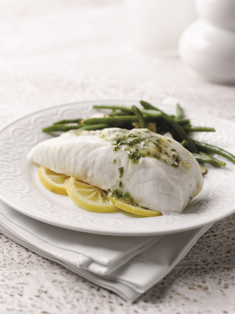 One pan steamed fish with lemon white wine sauce for Lemon fish sauce recipe