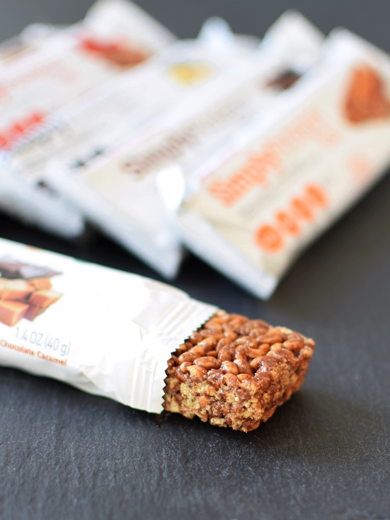 SimplyProtein Bar - Now just 1 gram of sugars! Dairy-free, gluten-free, vegan and perfectly sweet (Chocolate Caramel pictured)