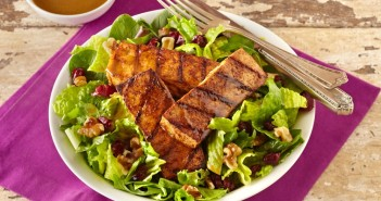Spicy Grilled Tofu Salad with Balsamic Vinaigrette - A dairy-free, vegan, optionally gluten-free recipe created by the adorable Alexander Weiss, Season 1 winner of Masterchef Junior!