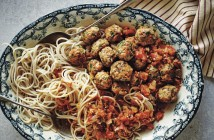 Stress Busting Gluten-Free Turkey Meatballs with Fresh Sun-Dried Tomato Sauce - this recipe sneaks in so many healthy ingredients and a couple surprise ones to keep stress at bay. This is a naturally dairy-free and top allergen-free recipe.