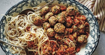 Stress Busting Gluten-Free Turkey Meatballs with Sun-Dried Tomato Sauce