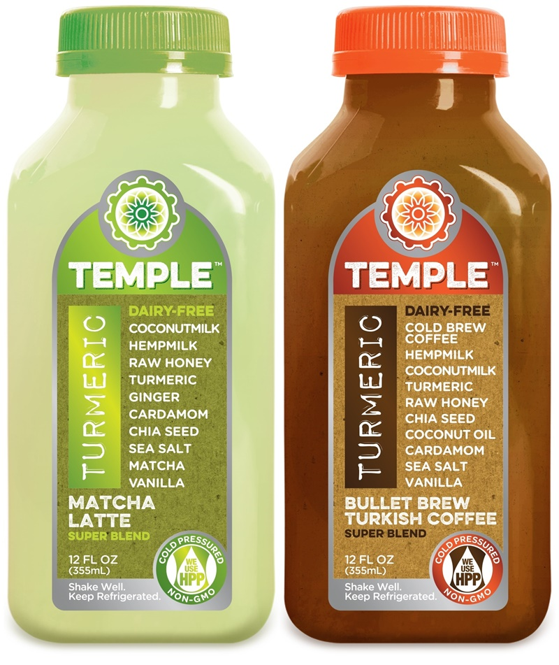 Temple Turmeric Super Blend - Matcha Latte + Bullet Brew Turkish Coffee (raw, paleo, dairy-free, and packed with nutritious ingredients!)