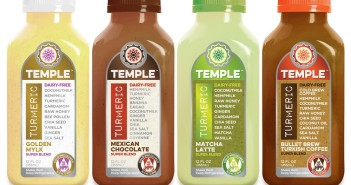 Temple Turmeric Super Blends - These Creamy Mylk Beverages are packed with more healthy ingredients than we though possible (golden, chocolate, coffee, and green tea varieties - all dairy-free, soy-free and paleo)