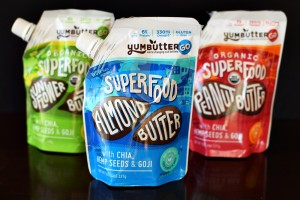 YumButter Go Superfood Nut Butters - Peanut, Almond and Sunflower Flavors packed with Chia, Hemp, Goji, Lucuma and more! (vegan, dairy-free, gluten-free, select paleo)