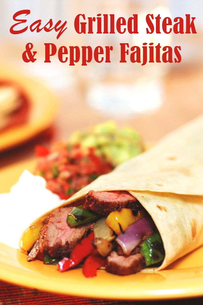 Easy Grilled Steak and Pepper Fajitas Recipe - dairy-free, gluten-free, and healthy