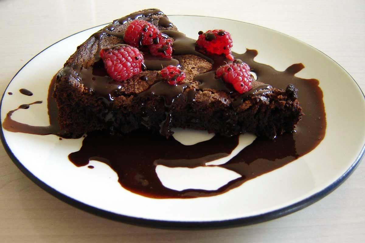 Flourless Chocolate Pecan Torte Recipe with Chocolate Glaze - Dairy-Free and Gluten-Free!