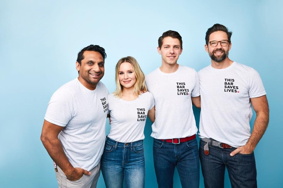 This Saves Lives Krispy Kritter Treats Reviews and Information - company founded by actors Kristen Bell, Todd Grinnell, Ravi Patel, and Ryan Devlin to help fight severe acute malnutrition in children. Pictured: The Team