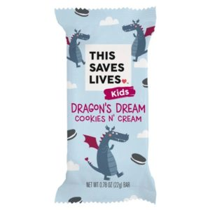 This Saves Lives Krispy Kritter Treats Reviews and Information - company founded by actors Kristen Bell, Todd Grinnell, Ravi Patel, and Ryan Devlin to help fight severe acute malnutrition in children. Pictured: Dragon's Dream