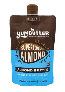 YumButter Superfood Nut Butters are made with Organic Chia Seeds, Hemp Seeds, Goji Berry, and Lucuma - paleo, plant-based, vegan