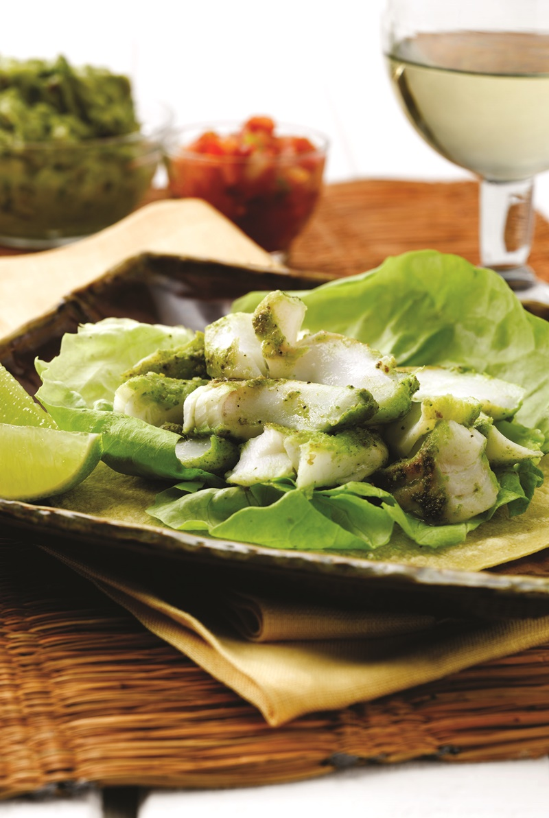Southwestern Grilled Cod Tacos with Fresh Guacamole (a dairy-free, gluten-free recipe). Includes barbecue, oven and stove-top cooking directions, plus a paleo option.