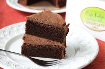 Cafe Indigo Vegan Goodness Layer Cakes - Amazingly dairy-free & egg-free! (chocolate cake pictured)