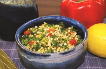 Gluten-Free Tabbouleh with Grilled Peppers, Fresh Herbs and a Surprise Healthy Whole Grain! Naturally vegan, dairy-free and top allergen-free recipe.