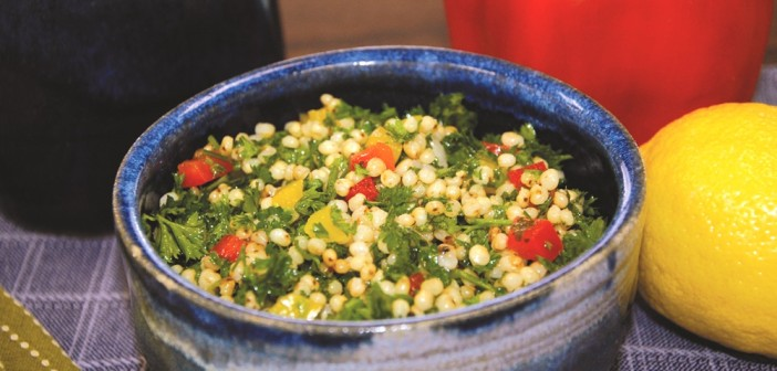 Gluten-Free Tabbouleh with Grilled Peppers, Fresh Herbs and Whole Grains