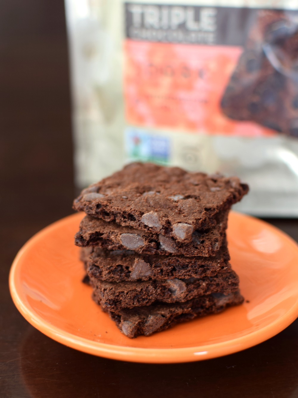 Lucy's Brownie Crisp - Triple Chocolate Deliciousness! Crispy, crunchy, and allergy-friendly